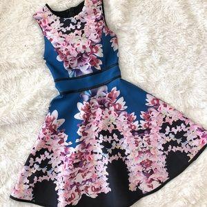 Cynthia Rowley signature material floral dress